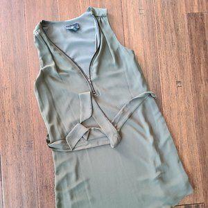 iZ Byer Army Green Shift/Slip Dress